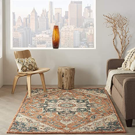 Amazon Com Nourison Bahari Persian Traditional Rust 5 X7 Area Rug 5 X 7 Furniture Decor