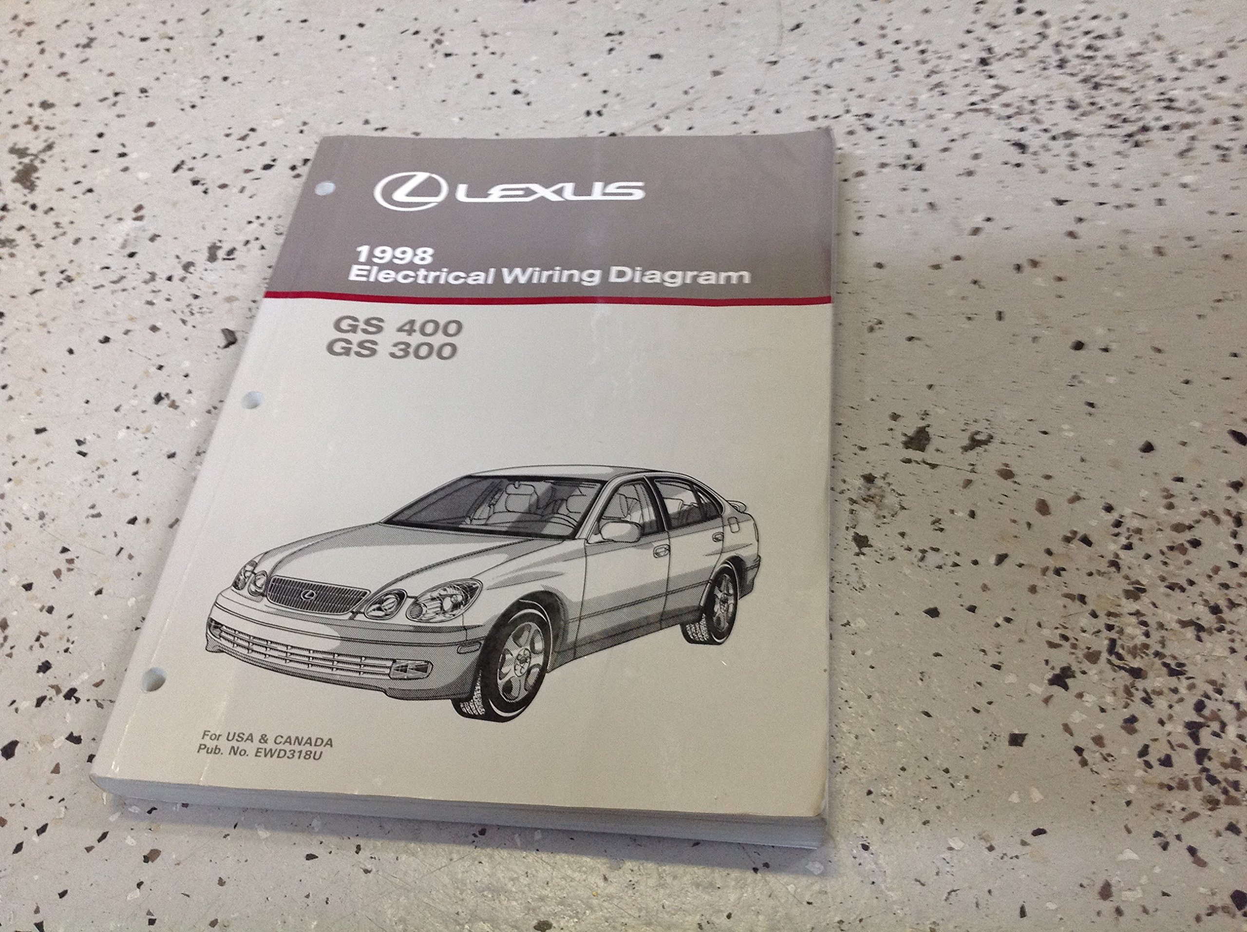 1998 lexus gs300 gs400 400 electrical wiring diagram service shop 1998 Green Lexus ES 400