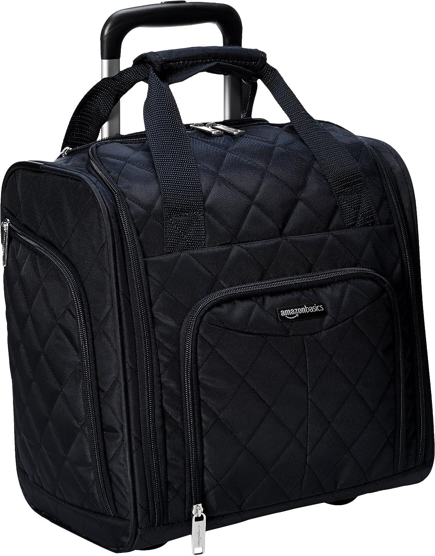 AmazonBasics - Equipaje para llevar bajo el asiento, Negro acolchado