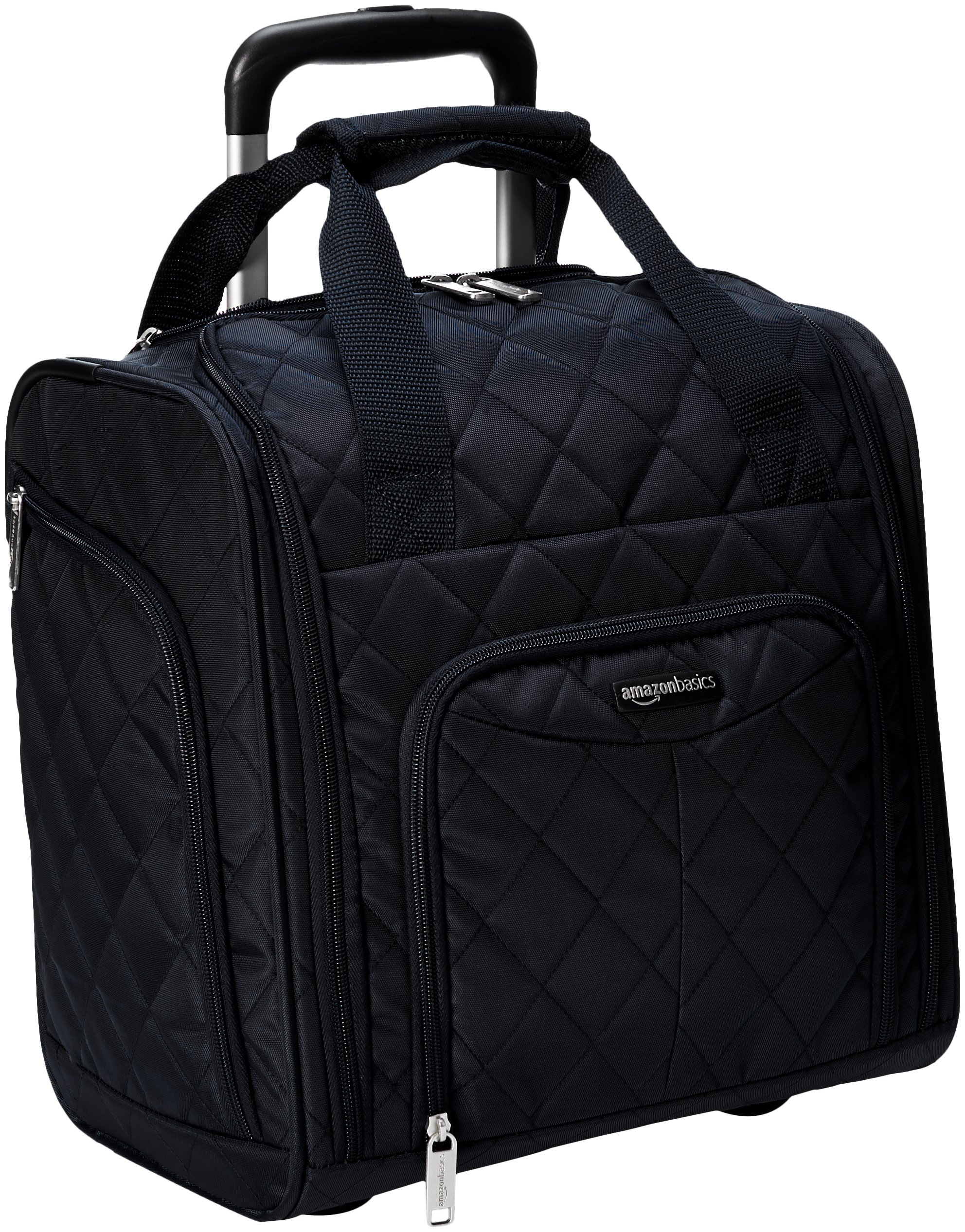 AmazonBasics Underseat Luggage, Black Quilted