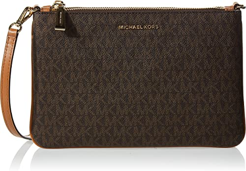 MICHAEL Michael Kors Large Double Pouch Crossbody Brown One