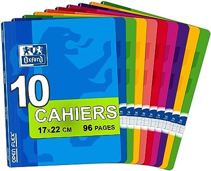 Oxford Openflex - Pack de 10 libretas grapadas de tapa blanda, A5 ...