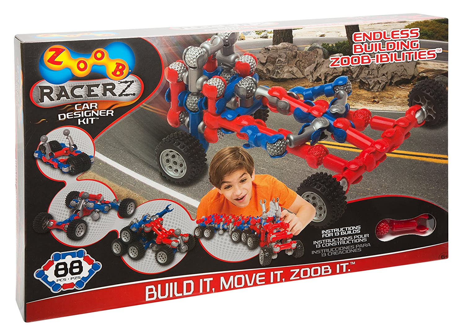 image of a ZOOB car designer kit in a box