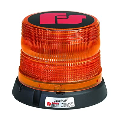 "Federal Signal 251121-02 UltraStar US5 Strobe Beacon, Class 2, Permanent/1"" Pipe Mount with Short, Amber Dome: Automotive"