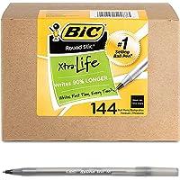 BIC Round Stic Xtra Life Ballpoint Pen, Medium Point 144 ct