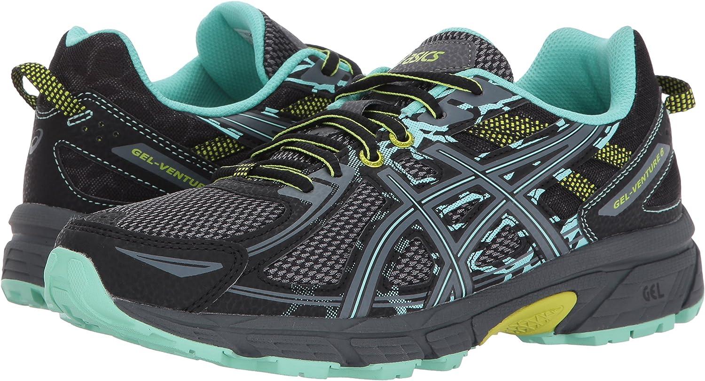 Asics Gel-Venture 6 - Zapatillas para Mujer (Talla 42), Color Negro, Negro y Rosa, Color Negro, Talla 43 EU: Amazon.es: Zapatos y complementos