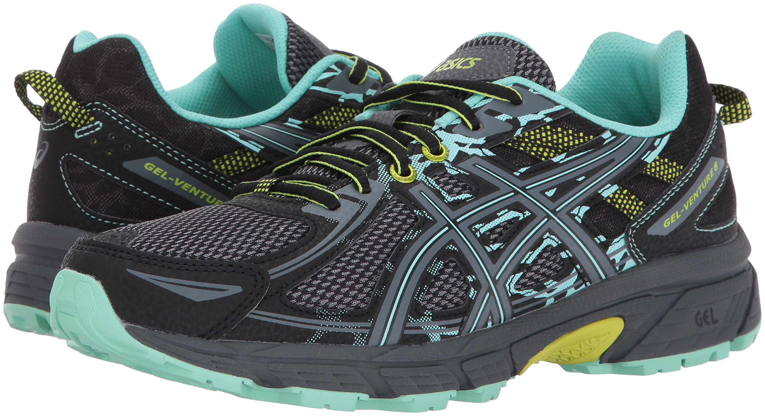 ASICS Women's Gel-Venture 6 Running-Shoes,Black/Carbon/Neon Lime,5 Medium US by ASICS (Image #6)