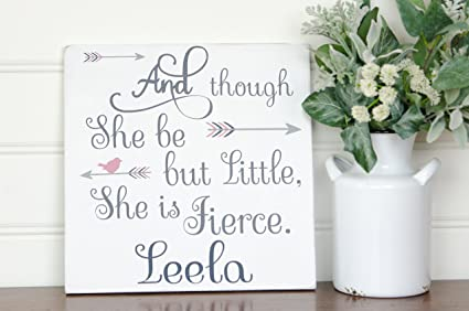 Amazoncom Rfy9u7 She May Be Little But She Is Fierce Pallet Sign
