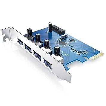 CSL - USB 3.0 Tarjeta de Interfaz PCIe con 4 Puertos - PCI Express Super Speed - Chipset Via VL-805 - conexión de Corriente SATA 15 Pines - tasa de ...