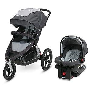 Graco Relay Jogging Stroller Travel System   Includes Relay Jogging Stroller and SnugRide 35 Infant Car Seat, Glacier