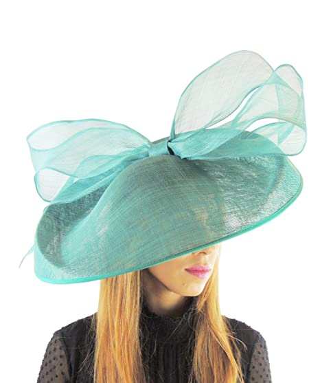 Hats By Cressida Jade Green Bow Ascot Kentucky Derby Races and Wedding Hat   Amazon.co.uk  Clothing 2106a2205bc