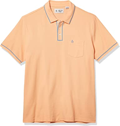 Original Penguin Earl Polo para hombre - Naranja - Medium: Amazon ...