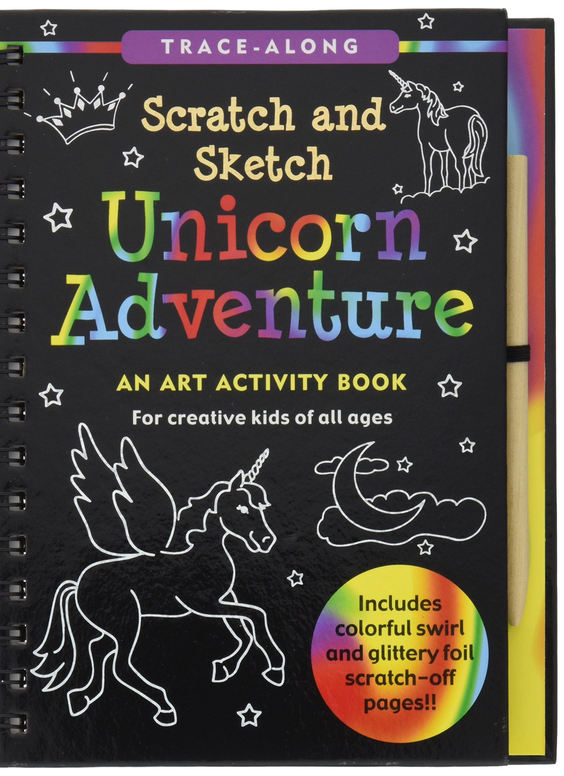 Unicorn Adventure Scratch and Sketch: An Art Activity Book for Creative Kids of All Ages 3