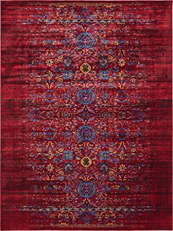 Vintage Contemporary Inspired Overdyed Distressed Rugs Burgundy 8 x Chelsea Rug Traditional Area