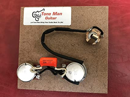 Upgrade Wiring Kit Orange Drop Tone Cap for Les Paul Jr on gibson les paul wiring harness, les paul guitar wiring kit, les paul pickup wiring, les paul pot wiring,