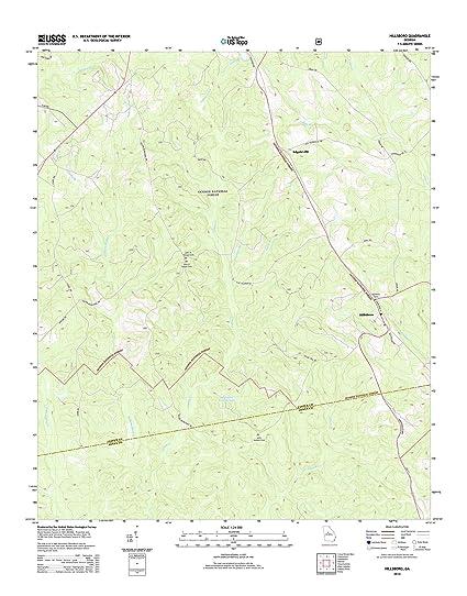 Amazon.com: Topographic Map Poster - Hillsboro, GA TNM GEOPDF 7.5X7 ...