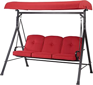 Mainstay NEW Callimont Park 3-Seat Canopy Porch Swing Bed