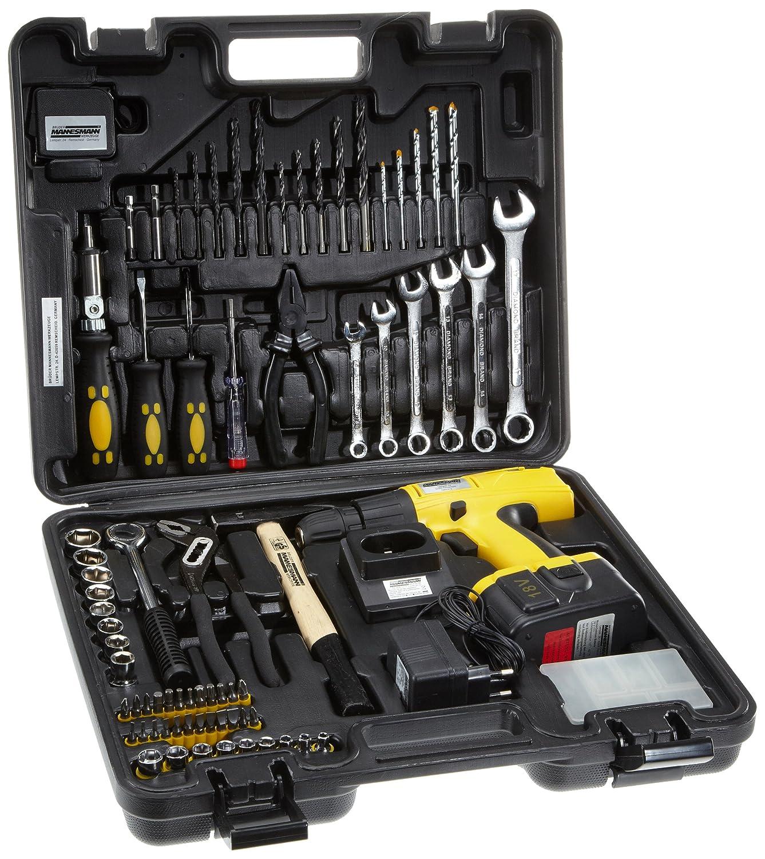 Mannesmann 17975 malette outils 75 pi ces avec perceuse - Malette outils enfant ...