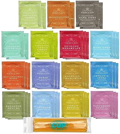 Varias bolsas de muestras de té, 40 unidades de The ...