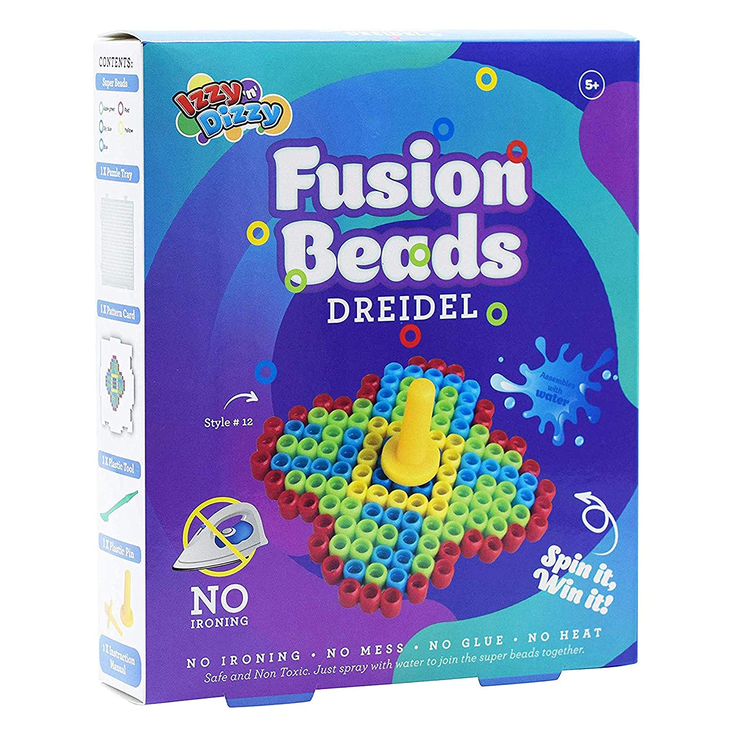 Create Your Own Dreidel Izzy /'n/' Dizzy Hanukkah Fusion Beads Dreidel Hanukah Arts and Crafts Gifts and Games