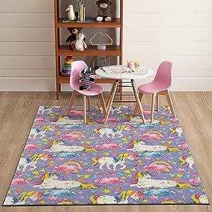 Mohawk Home Prismatic Unicorn Wish Area rug, 5'0 X 8'0, PURPLE
