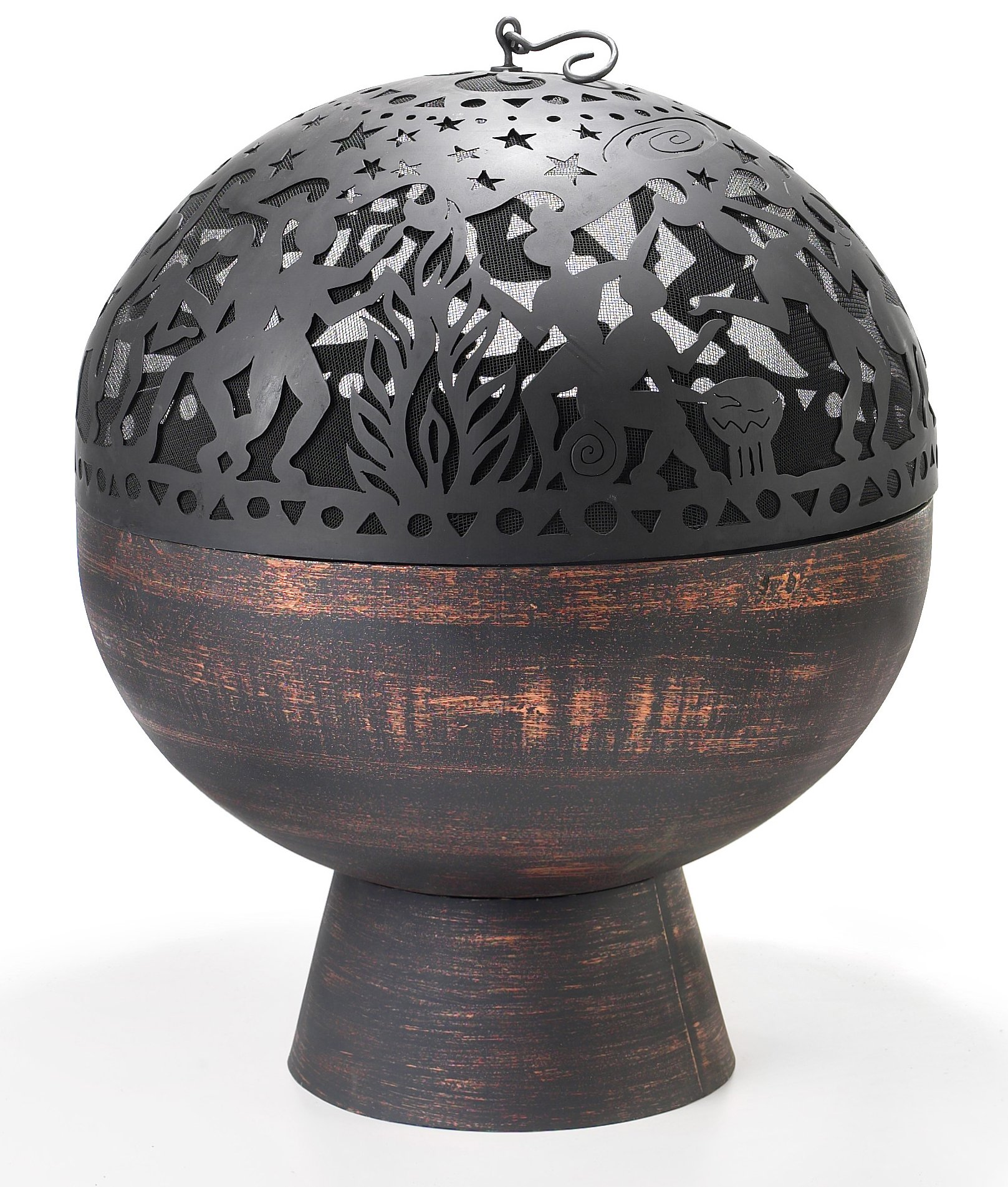 Good Directions FB-3 26-Inch Wrought Iron Fire Bowl with Full Moon Party FireDome by Good Directions