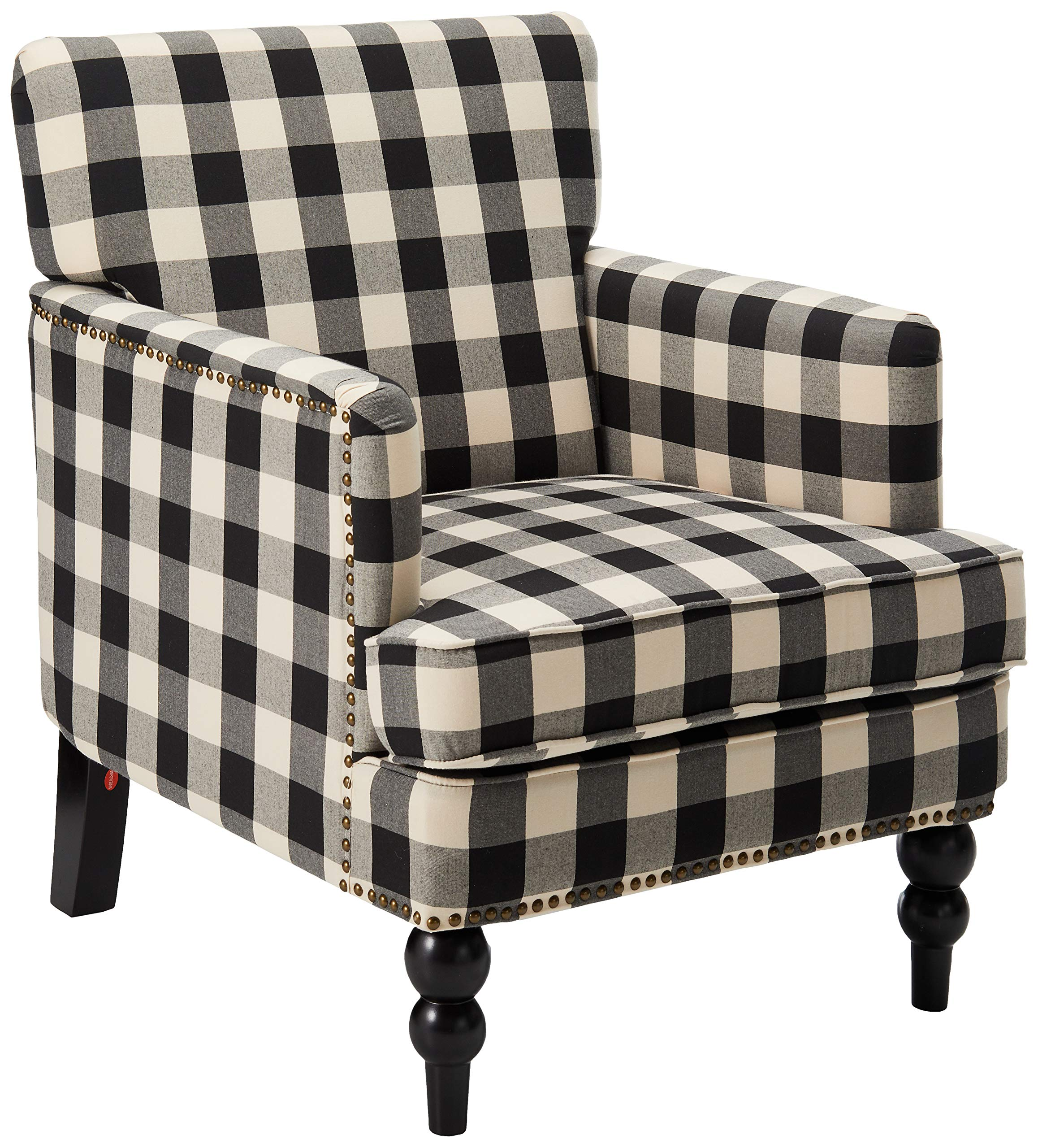 Christopher Knight Home Evete Tufted Fabric Club Chair, Black Checkerboard by Christopher Knight Home