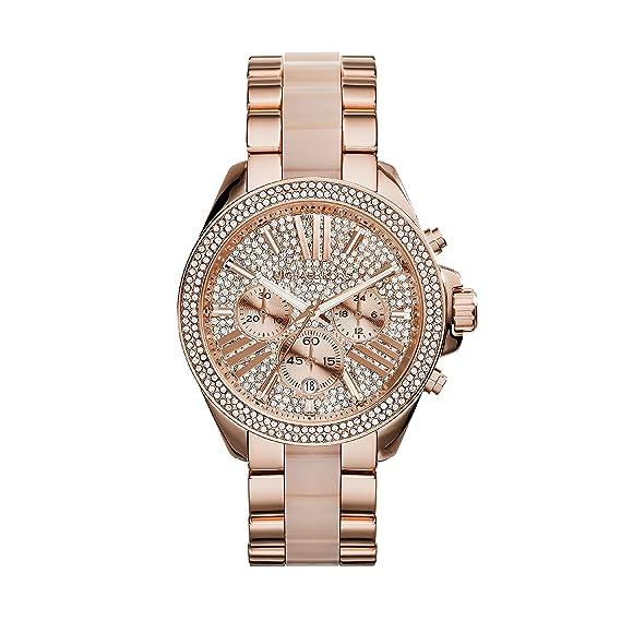 Michael Kors Reloj Cronógrafo para Mujer de Cuarzo con Correa en Acero Inoxidable MK6096: Amazon.es: Relojes