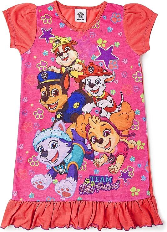 Disney Camisón niñas Paw Patrol, Rey León, Aladdin, Cenicienta, Little Mermaid | Ropa De Dormir para Niños