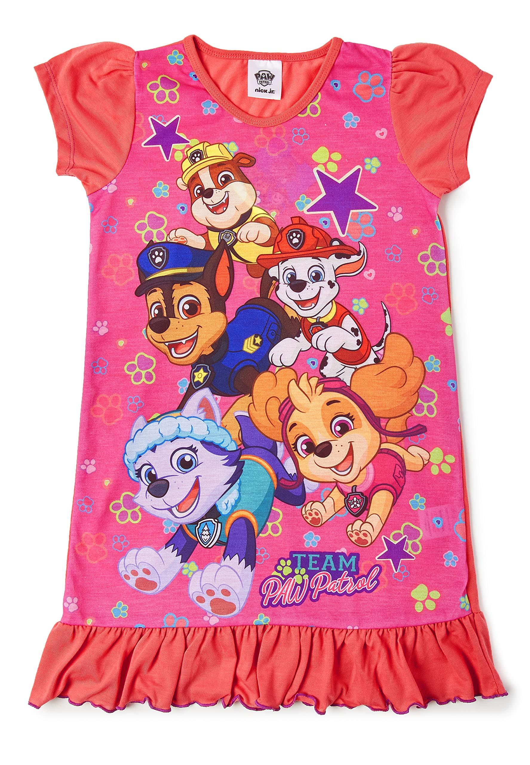 Girls Nightgowns Princess Nightie Nightdress Short Sleeve Ruffled Night Dress for 2-8 Years Kids Gift Blue
