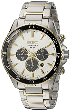 fd18e8265 Amazon.com: Seiko Men's 'Chronograph' Quartz Stainless Steel Dress Watch  (Model: SSC446): Watches