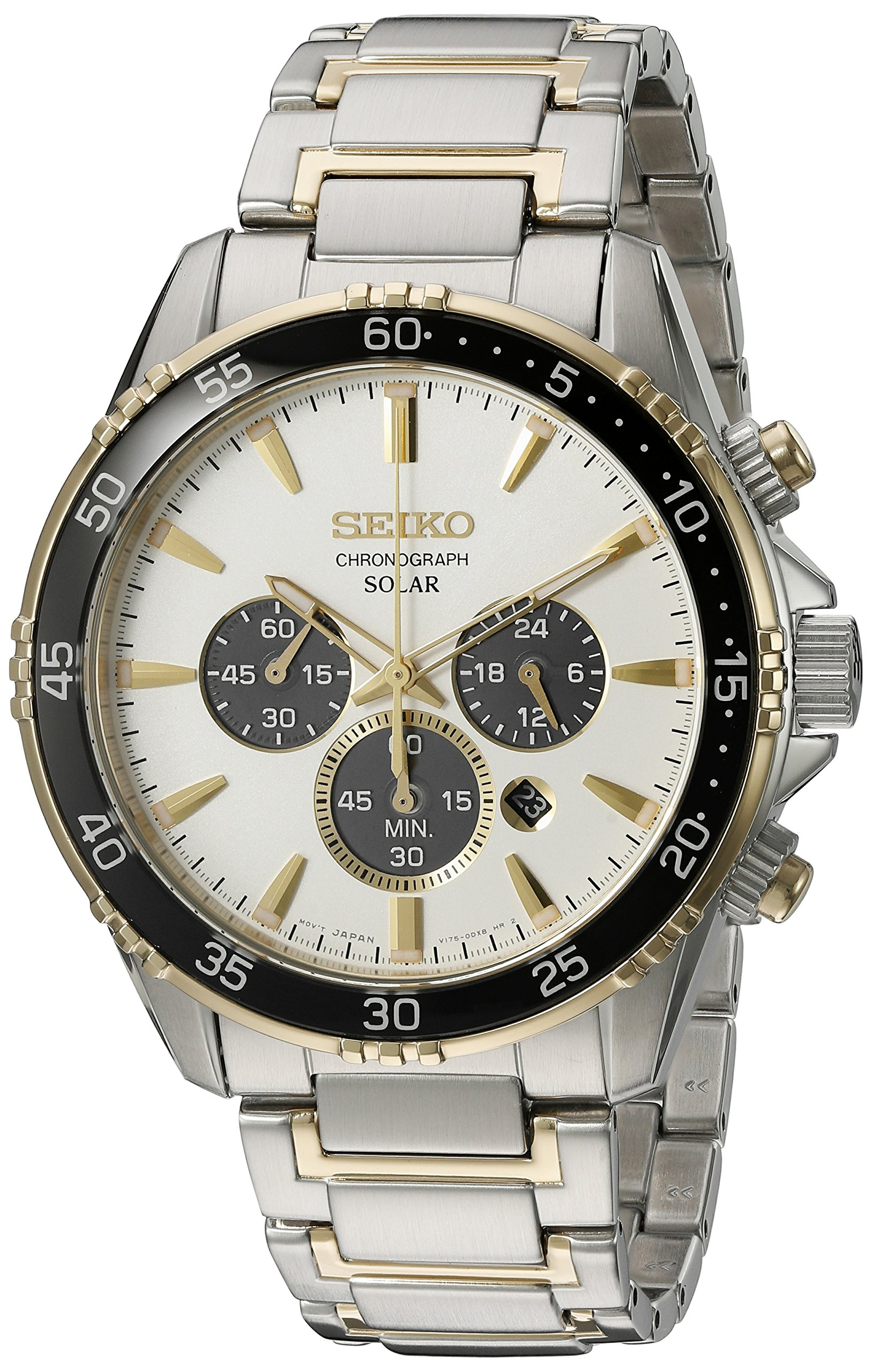 Seiko Men's 'Chronograph' Quartz Stainless Steel Dress Watch (Model: SSC446) by Seiko