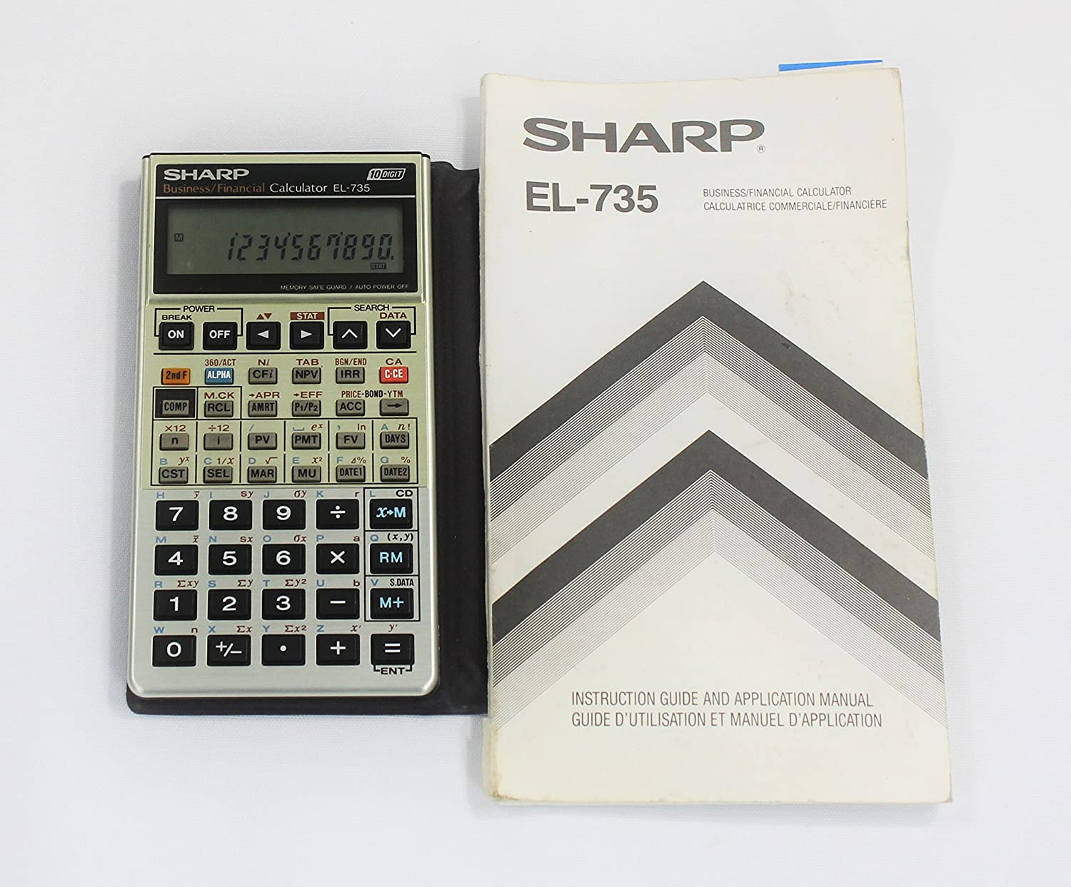 amazon com sharp el 735 business data calculator owner s manual rh amazon com sharp financial calculator el-738 manual sharp el-738 business financial calculator manual