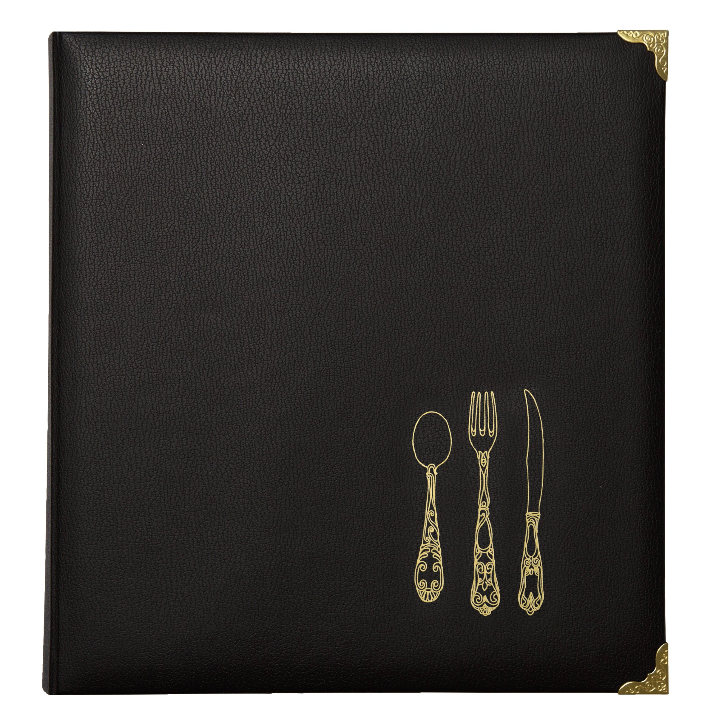 C.R. Gibson Leatherette Recipe Binder, Black/Multicolor by C.R. Gibson