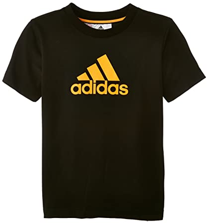 Adidas Essentials Logo - Camiseta para niños, color black - noir/solzes, talla