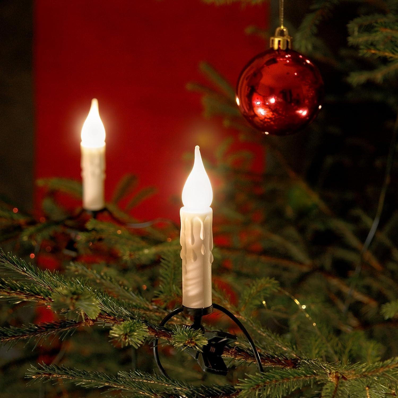 Konstsmide 2314-000 Guirlande de Sapin 20 Lampes Givrées