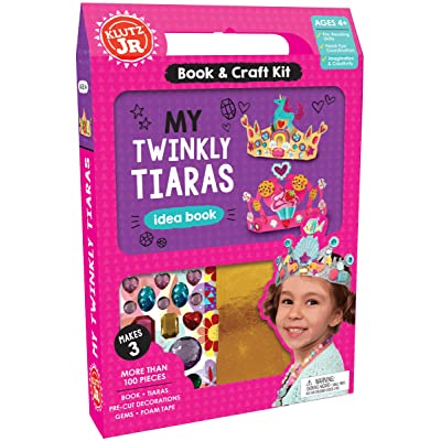 Klutz Jr. My Twinkly Tiaras Craft Kit: Editors of Klutz: Toys & Games