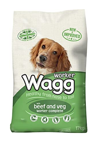 Wagg Complete Worker Dry Mix Dog Food Beef and Vegetables, 17kg