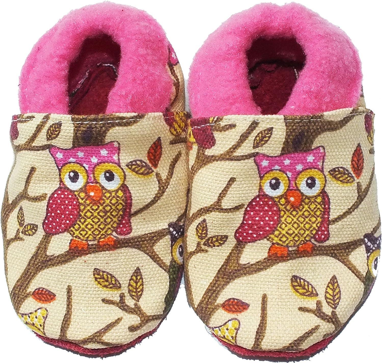Sayoyo Baby Owls Soft Sole Leather Infant Toddler Prewalker Shoes