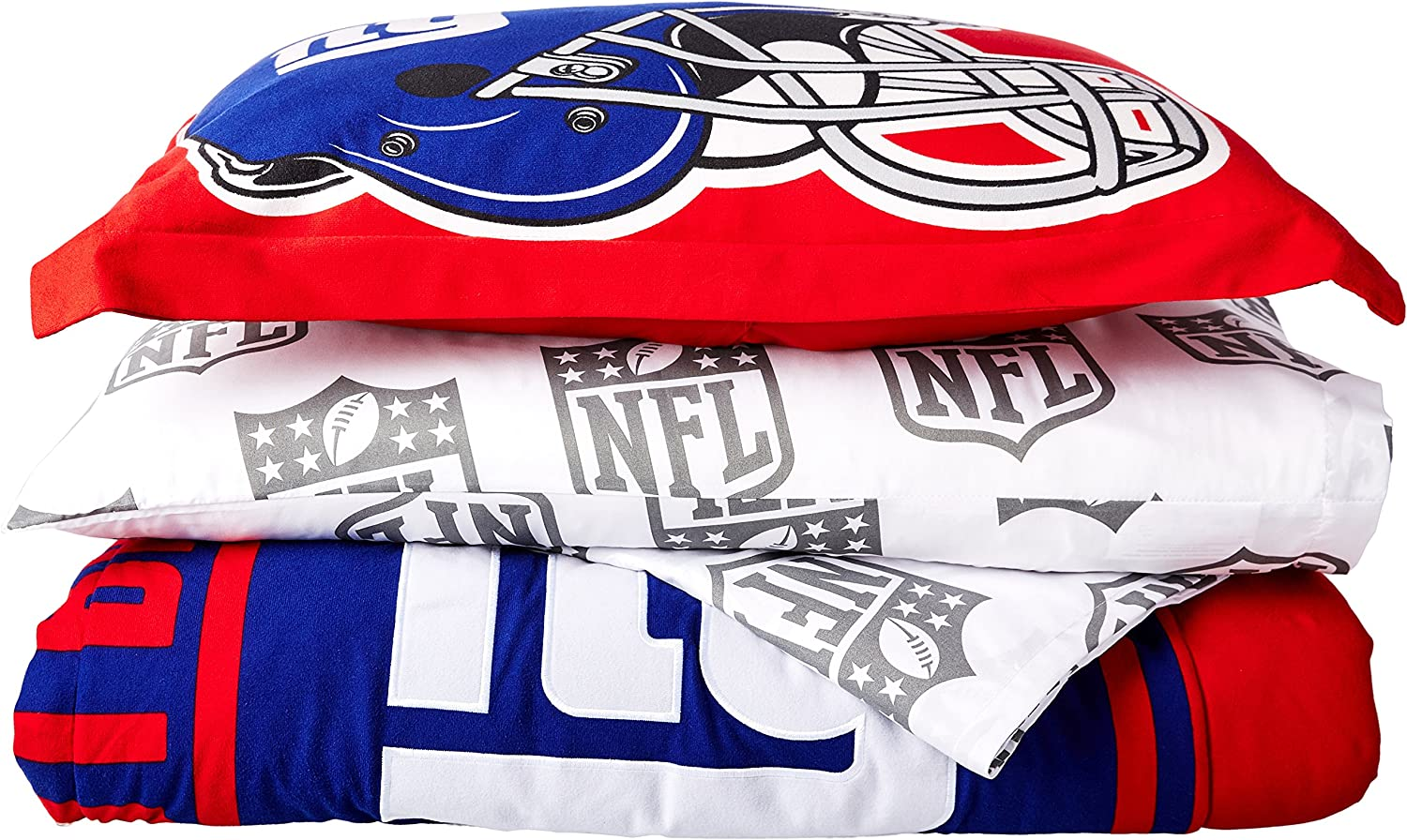 """Officially Licensed NFL Full Size Bed in a Bag Set, Multi Color, 76"""" x 86"""""""
