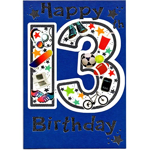 Birthday Cards For Boy 13 Amazon