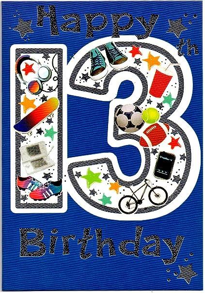 Tarjeta de felicitación de cumpleaños trece (13) años de ...