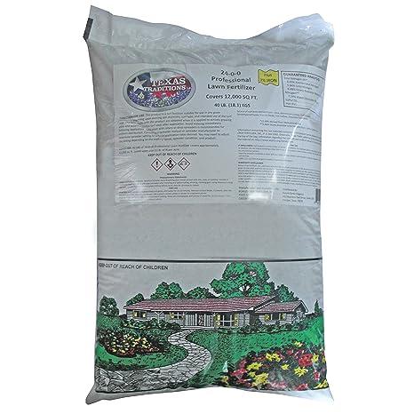 Amazon.com : Texas Traditions 24-0-0 Professional Lawn Fertilizer 40 ...