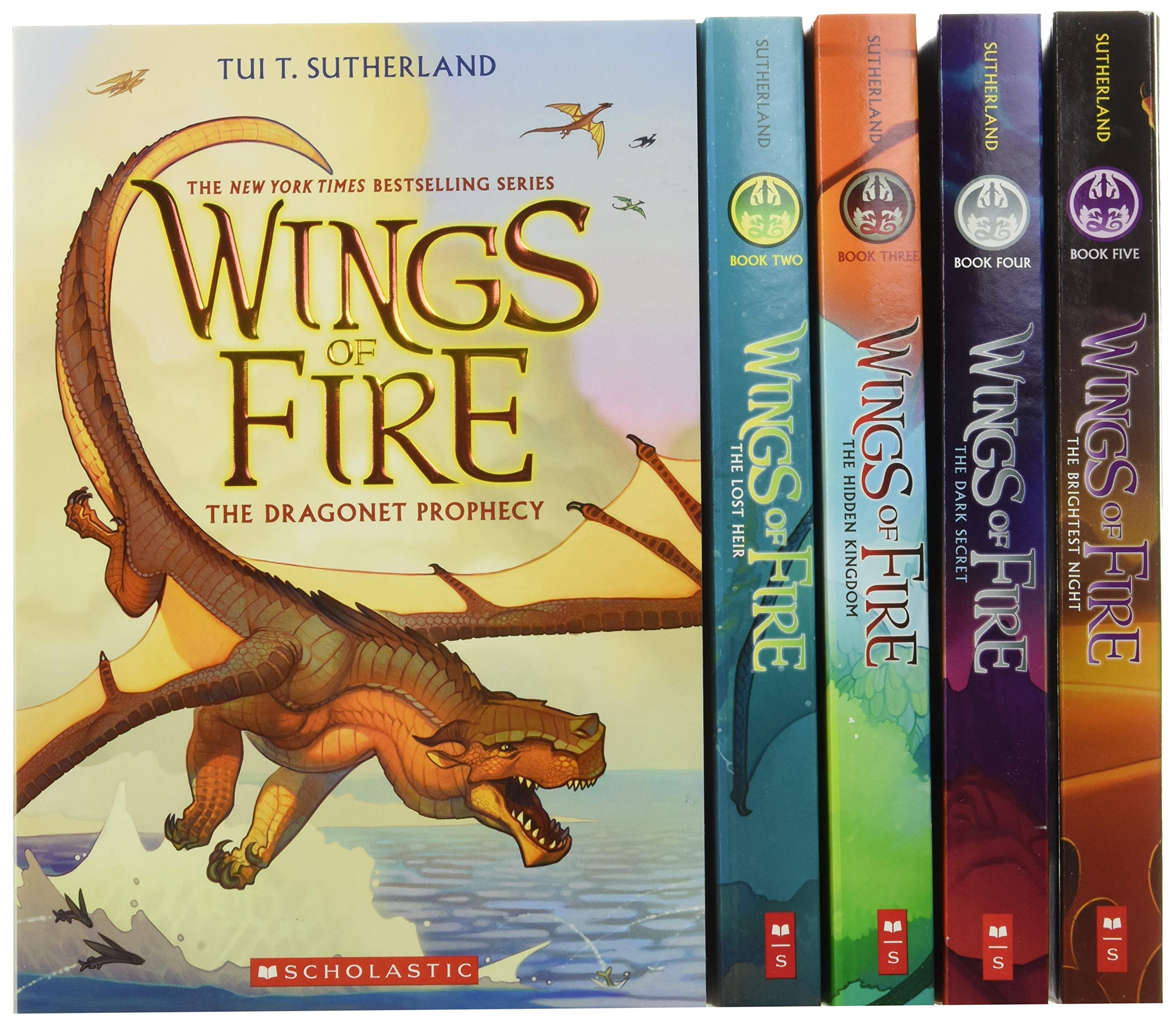 Wings of Fire Boxset, Books 1-5 (Wings of Fire): Sutherland, Tui T.:  9780545855723: Amazon.com: Books