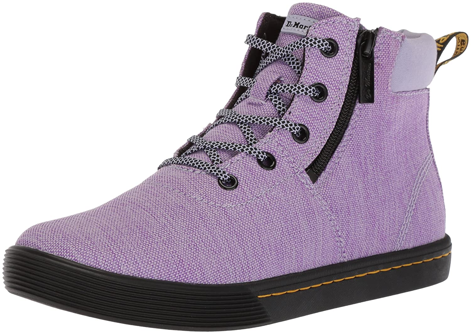 Dr. Martens Women's Maegley Fashion Boot B071GN8MTH 5 Medium UK (7 US)|Purple Heather Woven Textile+fine Canvas