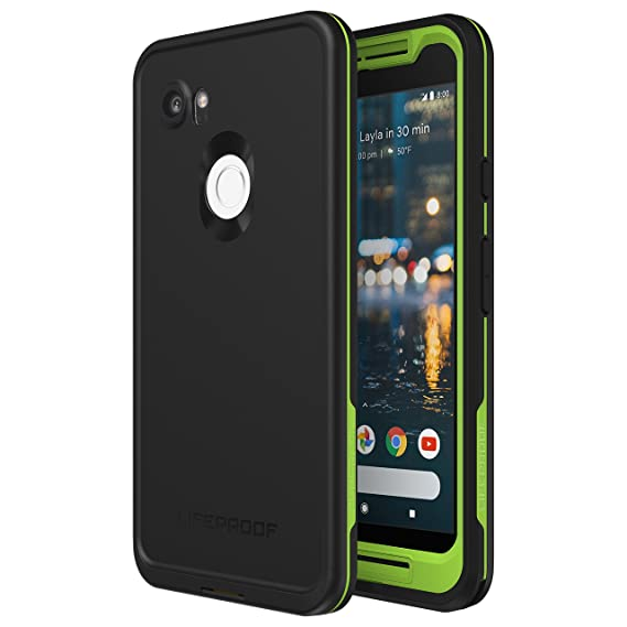 the latest 4d5a1 d2932 Lifeproof FRĒ Series Waterproof Case for Google Pixel 2 XL - Retail  Packaging - Night LITE (Black/Lime)