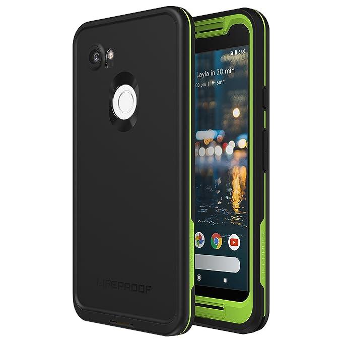 the latest 98bae 30d45 Lifeproof FRĒ Series Waterproof Case for Google Pixel 2 XL - Retail  Packaging - Night LITE (Black/Lime)