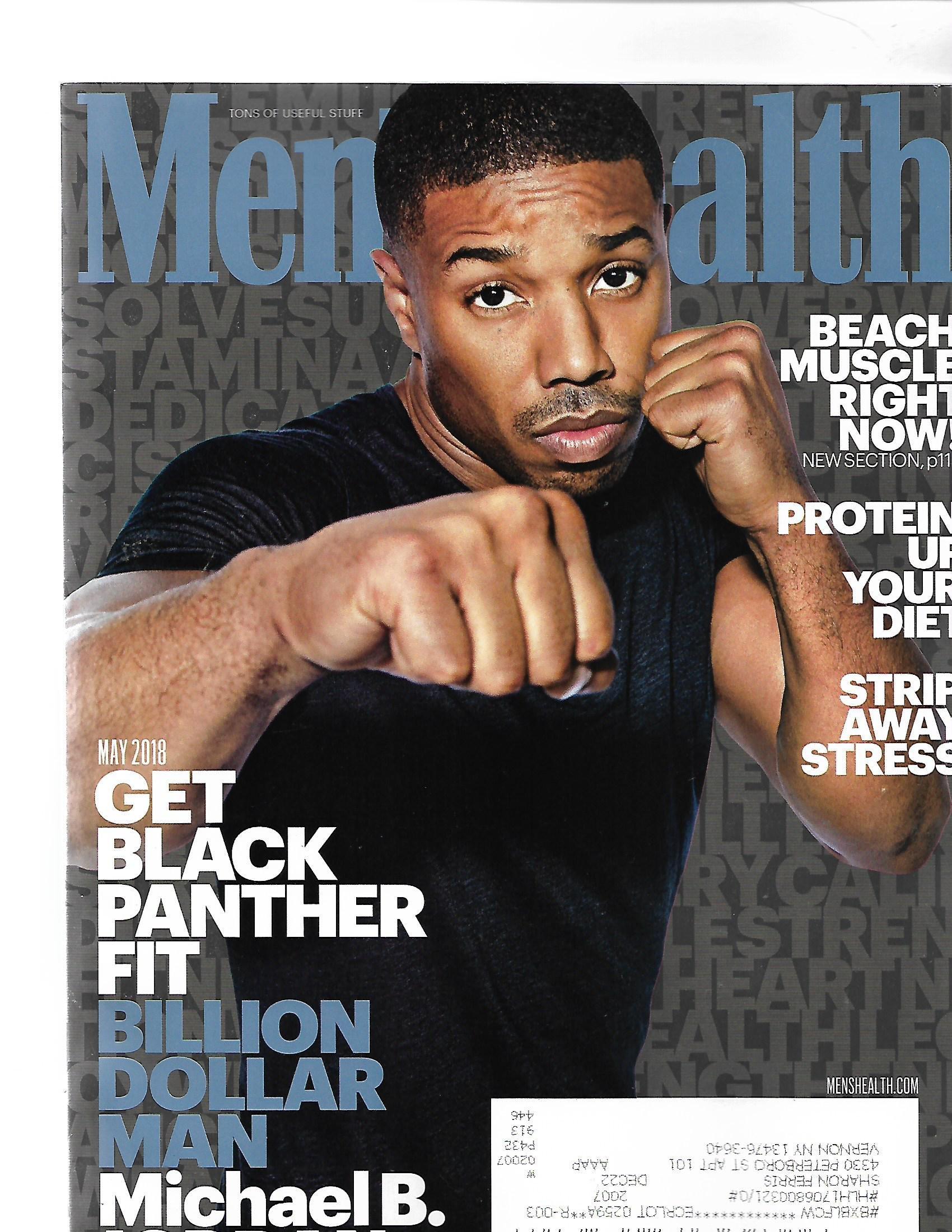 Download Mens health Magazine May 2018 { Get Black panther Fit} { Postal code on front} pdf epub