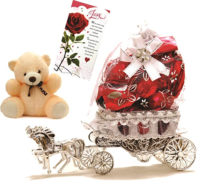 Skylofts Beautiful Horse Chocolate Gift With A Cute Teddy Love