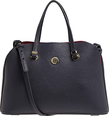 Tommy Hilfiger - Th Core Satchel, cartera Mujer, Azul (Tommy Navy),
